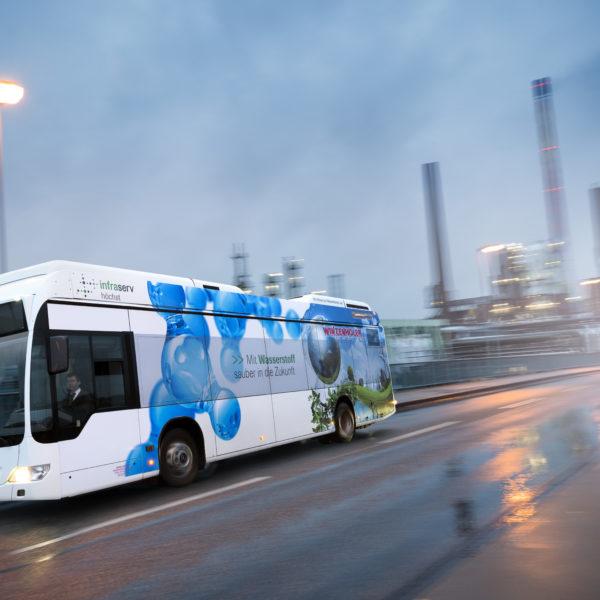 Hydrogen bus in operation
