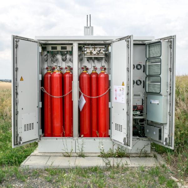 Netzferne Stromversorgungsanlage mit Wasserstoff und Brennstoffzellen für den Digitalfunk