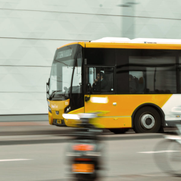 Bus in Fahrt