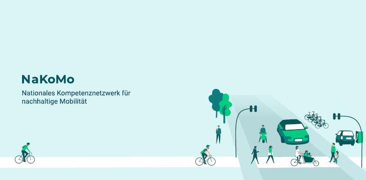 Cover der Broschüre zeigt stilisierte Situation an einer Straßenüberquerung mit Perosnen und Fahrzeugen